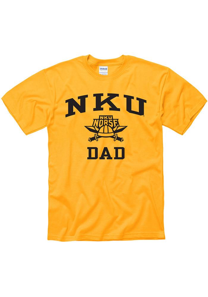 Northern Kentucky Norse Mens Gold Dad Short Sleeve T Shirt - Image 1