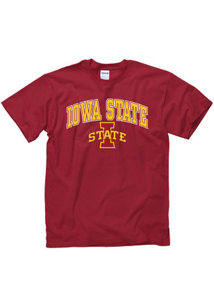 Iowa State Cyclones Mens Cardinal Arch Mascot Tee