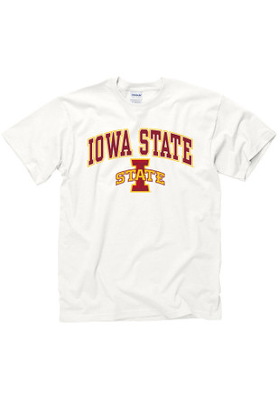 Iowa State Cyclones Mens White Arch Mascot Tee