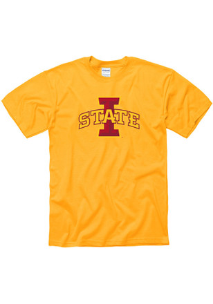 Iowa State Cyclones Mens Gold Big Logo Tee