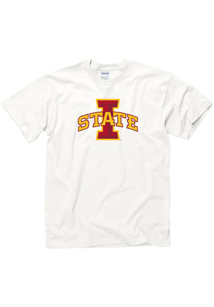 Iowa State Cyclones Mens White Big Logo Tee