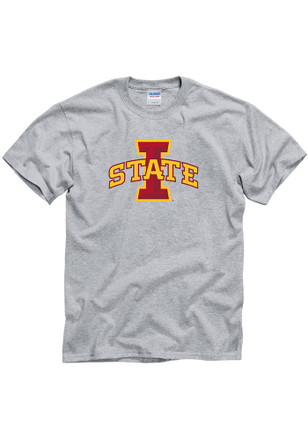 Iowa State Cyclones Mens Grey Big Logo Tee