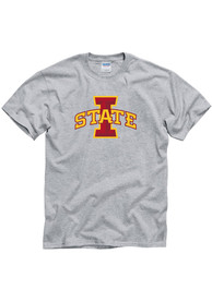 Iowa State Cyclones Grey Big Logo Tee