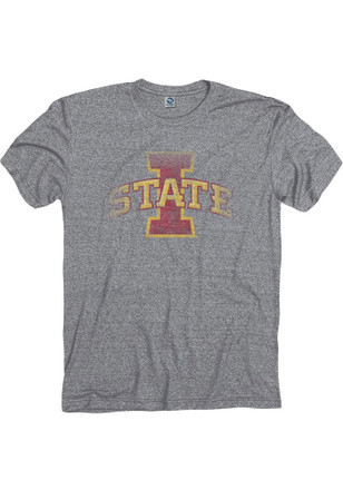 Iowa State Cyclones Mens Grey Fade Out Tee