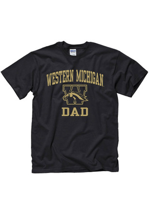 Western Michigan Broncos Mens Black Dad Tee