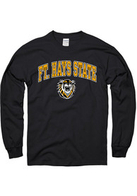 Fort Hays State Tigers Black Arch Mascot Tee