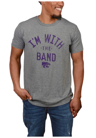 K-State Wildcats Mens Grey Band Tee