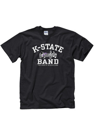 K-State Wildcats Mens Black Band Tee