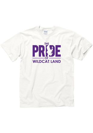 K-State Wildcats Mens White Band Tee