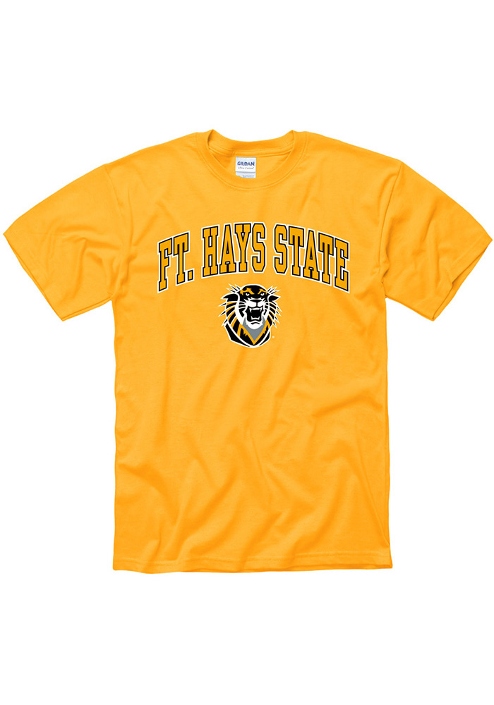 Fort Hays State Tigers Gold Arch Mascot Tee