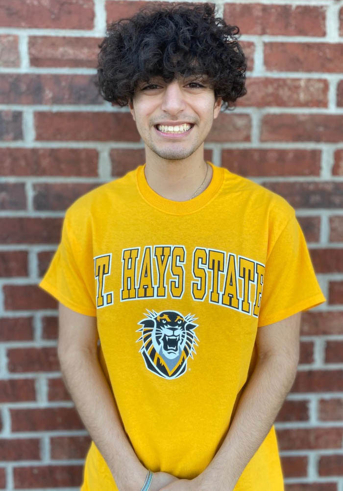 Fort Hays State Tigers Gold Arch Mascot Short Sleeve T Shirt - Image 2