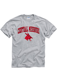 Central Missouri Mules Grey Arch Mascot Tee