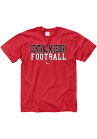 Central Missouri Mules Red Equipped Football Tee