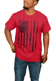 Team USA Red Distressed American Flag Short Sleeve T Shirt