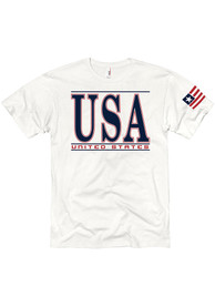 Team USA White Short Sleeve T Shirt