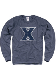 Xavier Musketeers French Terry Crew Sweatshirt - Navy Blue
