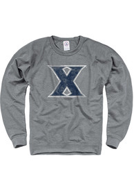 Xavier Musketeers French Terry Crew Sweatshirt - Grey