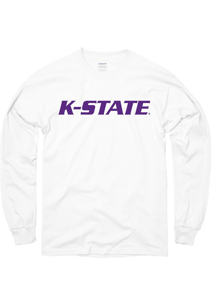 K-State Wildcats White Rally Loud Long Sleeve T Shirt - Image 1