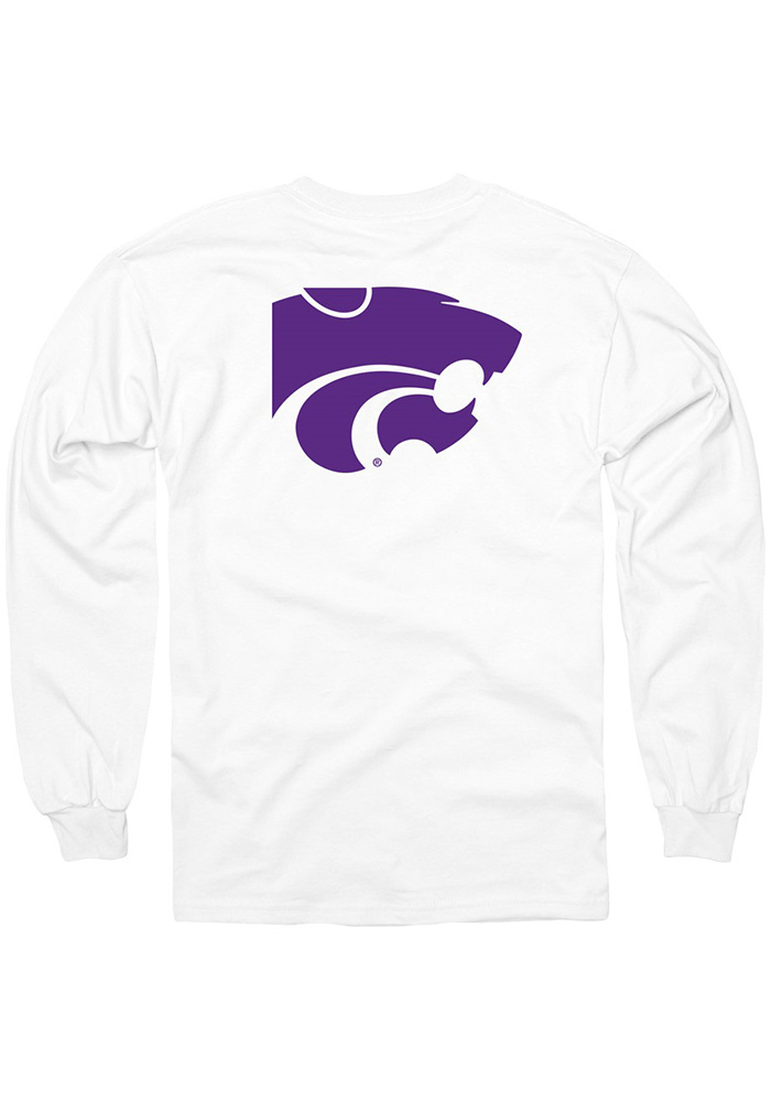 K-State Wildcats White Rally Loud Long Sleeve T Shirt - Image 2