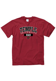 Temple Owls Red Dad Tee