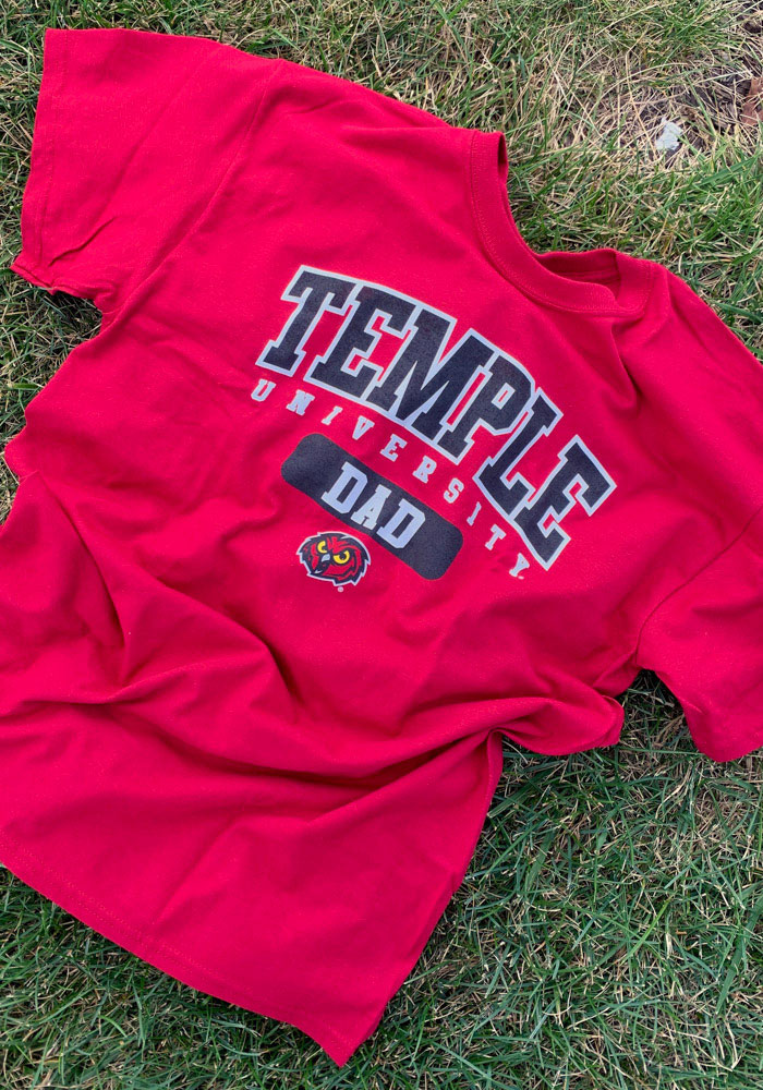 Temple Owls Red Dad Short Sleeve T Shirt - Image 2