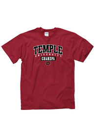 Temple Owls Red Grandpa Tee