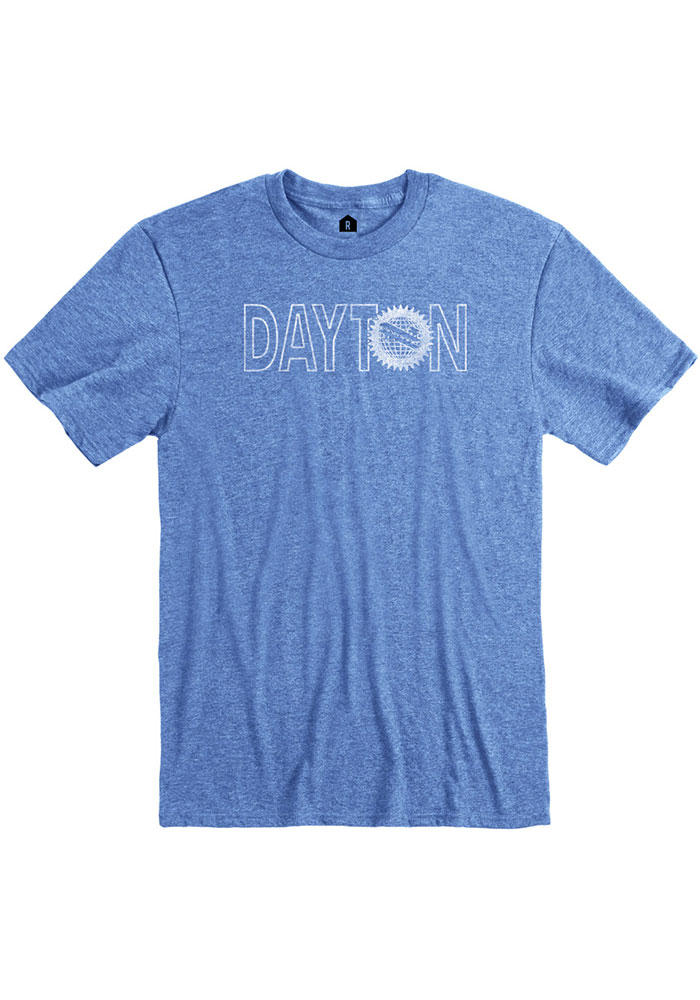 Dayton Blue Flag Wordmark Short Sleeve Fashion T Shirt - Image 1
