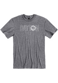Dayton Grey Flag Wordmark Short Sleeve T Shirt