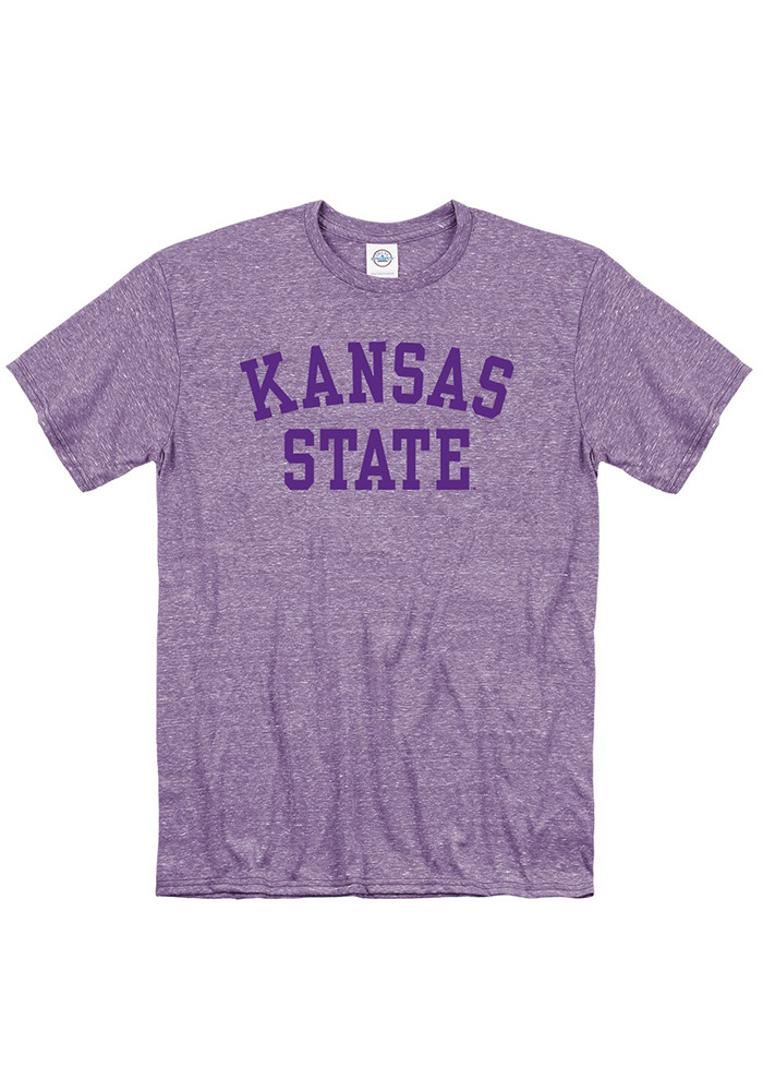 K-State Wildcats Purple School Name Short Sleeve T Shirt - Image 1