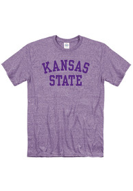 K-State Wildcats School Name T Shirt - Lavender