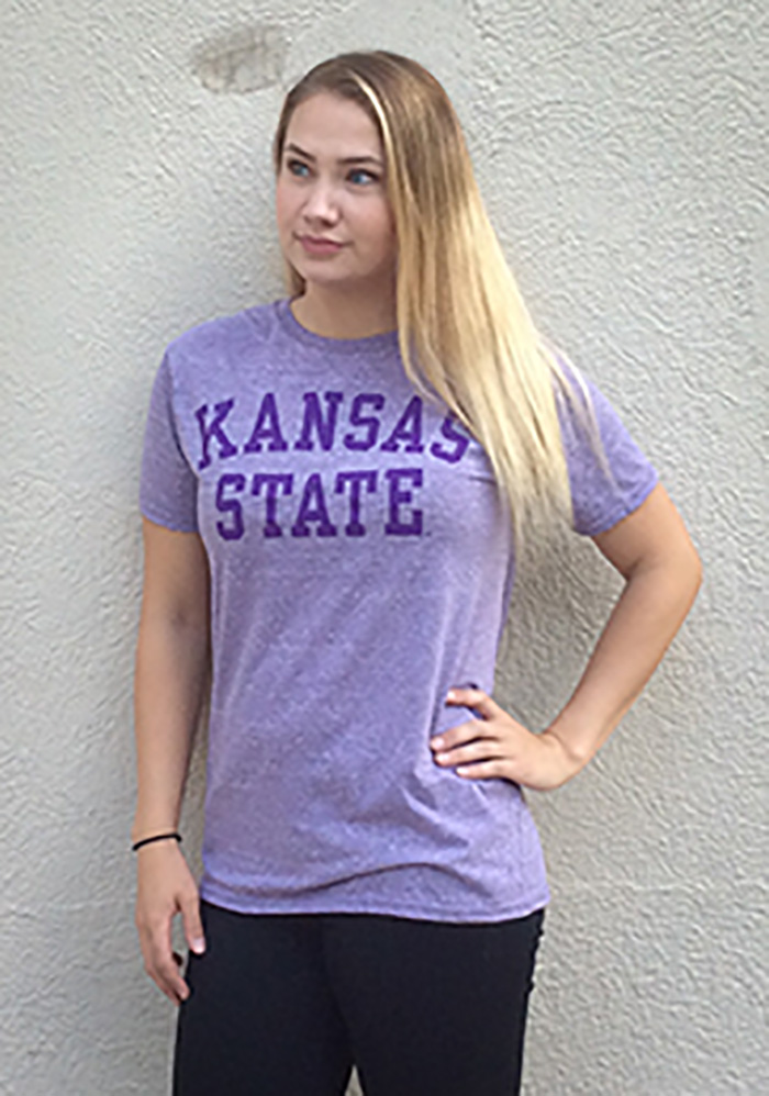 K-State Wildcats Purple School Name Short Sleeve T Shirt - Image 2