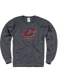Central Michigan Chippewas French Terry Crew Sweatshirt - Charcoal