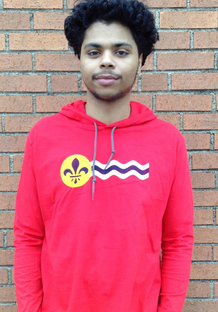St Louis Red St. Louis Flag Long Sleeve Light Weight Hood - Image 2