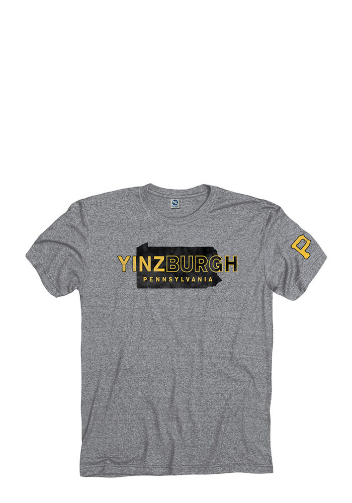 Pittsburgh Mens Grey Yinzburgh Pennsylvania Short Sleeve T