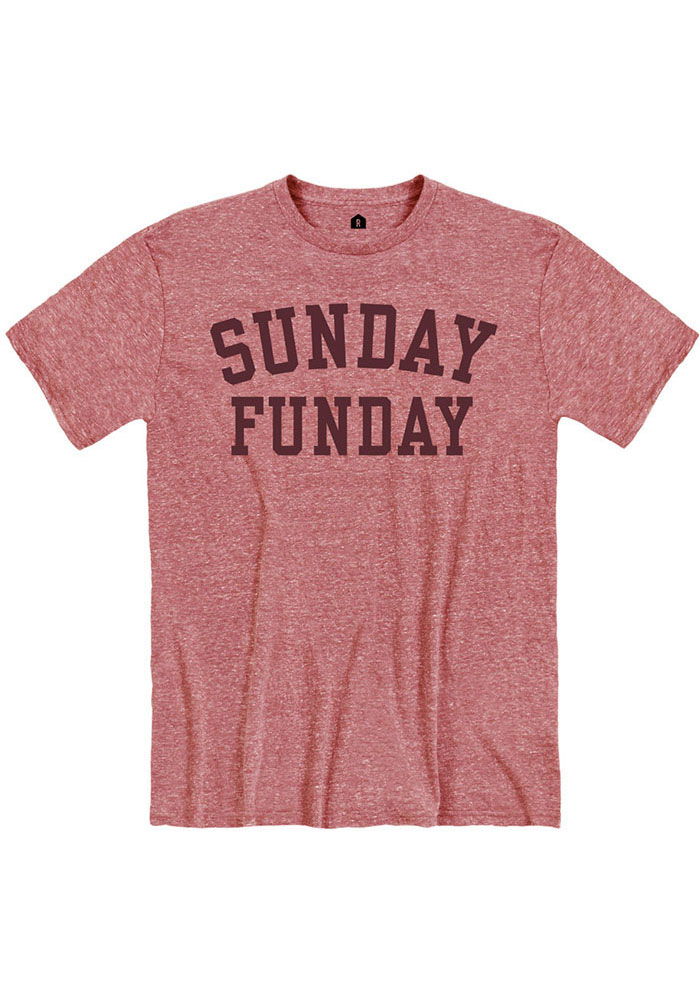Red Sunday Funday Short Sleeve Fashion T Shirt - Image 1