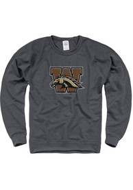 Western Michigan Broncos French Terry Crew Sweatshirt - Charcoal