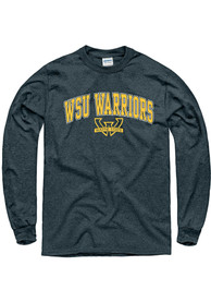 Wayne State Warriors Charcoal Arch Mascot Tee