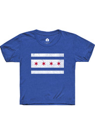 Rally Chicago Youth Blue City Flag Short Sleeve T Shirt