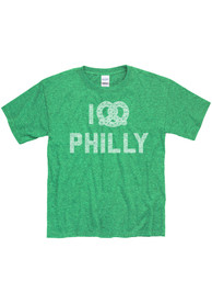 Philadelphia Youth Kelly Green I Pretzel Philly Short Sleeve T Shirt