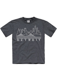 Detroit Youth Navy Skyline Glow Short Sleeve T Shirt