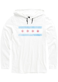 Chicago White City Flag Long Sleeve Light Weight Hood
