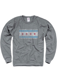 Chicago Chicago Flag Crew Sweatshirt - Grey