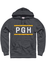 Pittsburgh Dark Grey PGH Block Long Sleeve Hood Sweatshirt