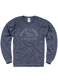 Michigan State of Mind Crew Sweatshirt - Navy Blue