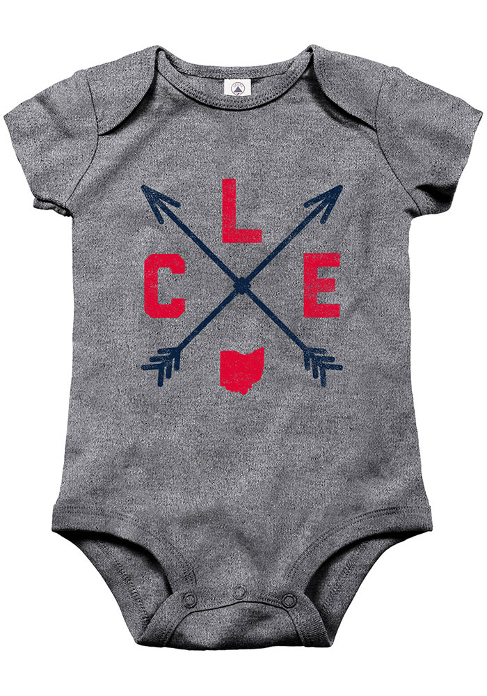 Cleveland Baby Grey Arrows One Piece - Image 1