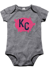 Kansas City Baby Grey KC Pig One Piece