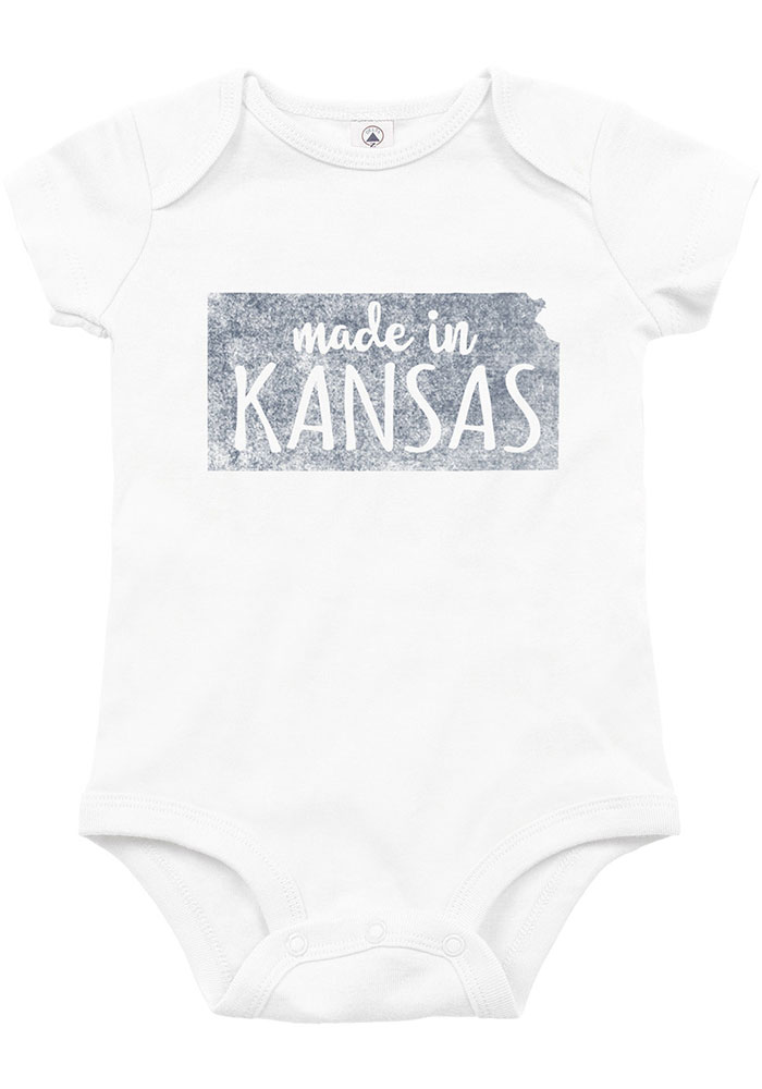 Kansas Baby White Made In Short Sleeve One Piece - Image 1