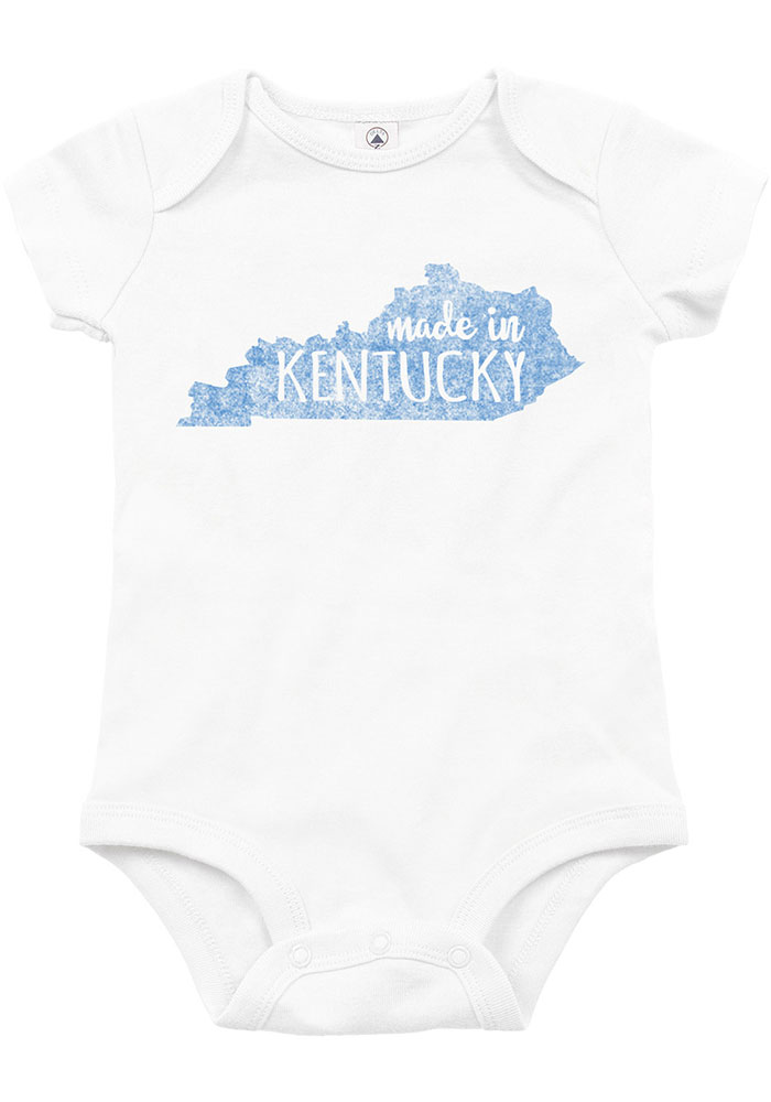 Kentucky Baby White Made In Short Sleeve One Piece - Image 1