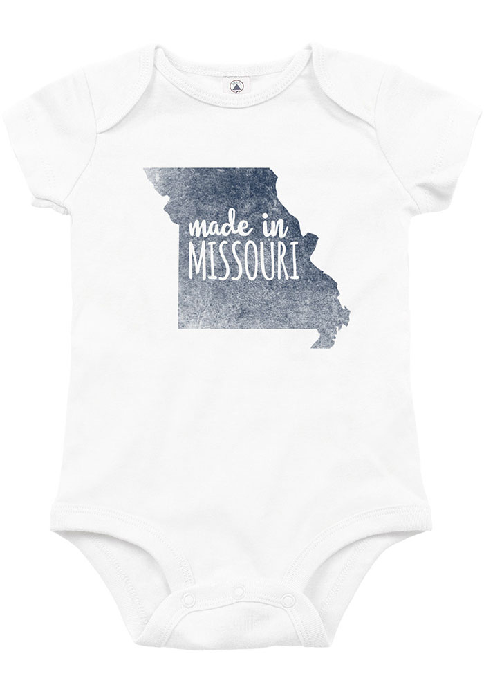 Missouri Baby White Made In Short Sleeve One Piece - Image 1