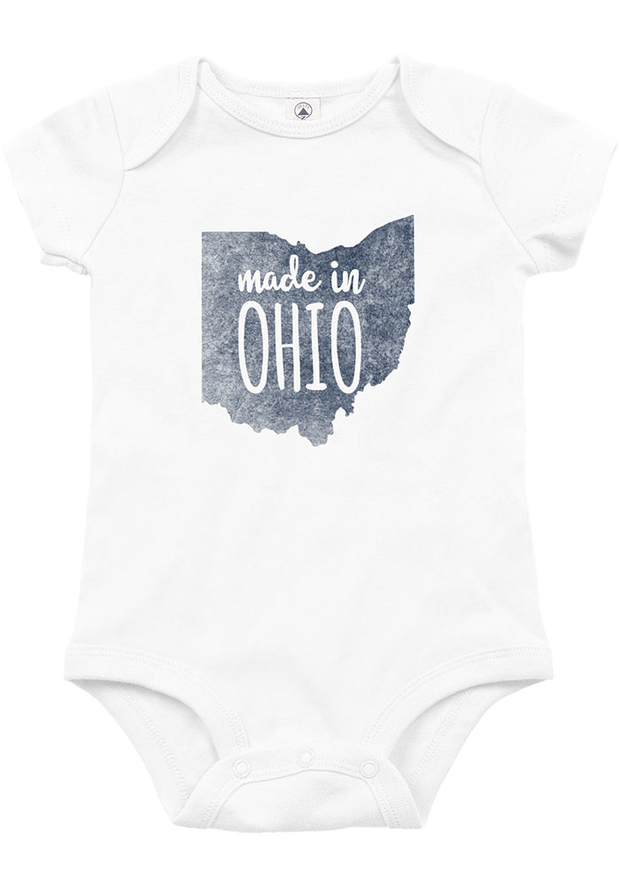 Ohio Baby White Made In Short Sleeve One Piece - Image 1